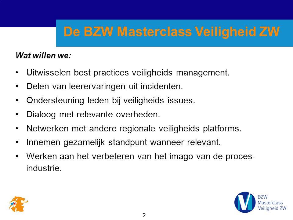 2 Wat willen we: Uitwisselen best practices veiligheids management.