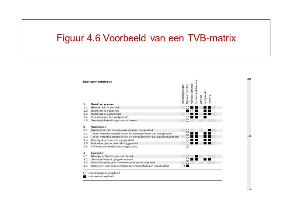 Figuur 4.6 Voorbeeld van een TVB-matrix
