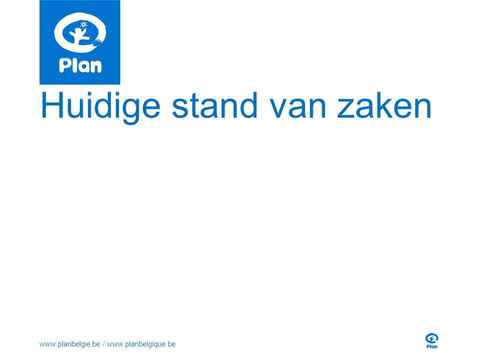 Huidige stand van zaken www.planbelgie.be / www.planbelgique.be
