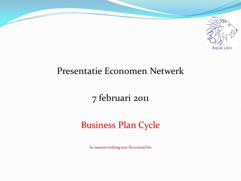 Business Plan Cycle: bottom up benadering! Aqua Lion SALES R&D Distr Top Vijf Local