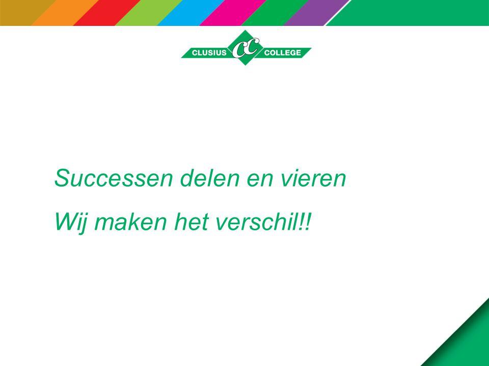 Successen delen en vieren Wij maken het verschil!!