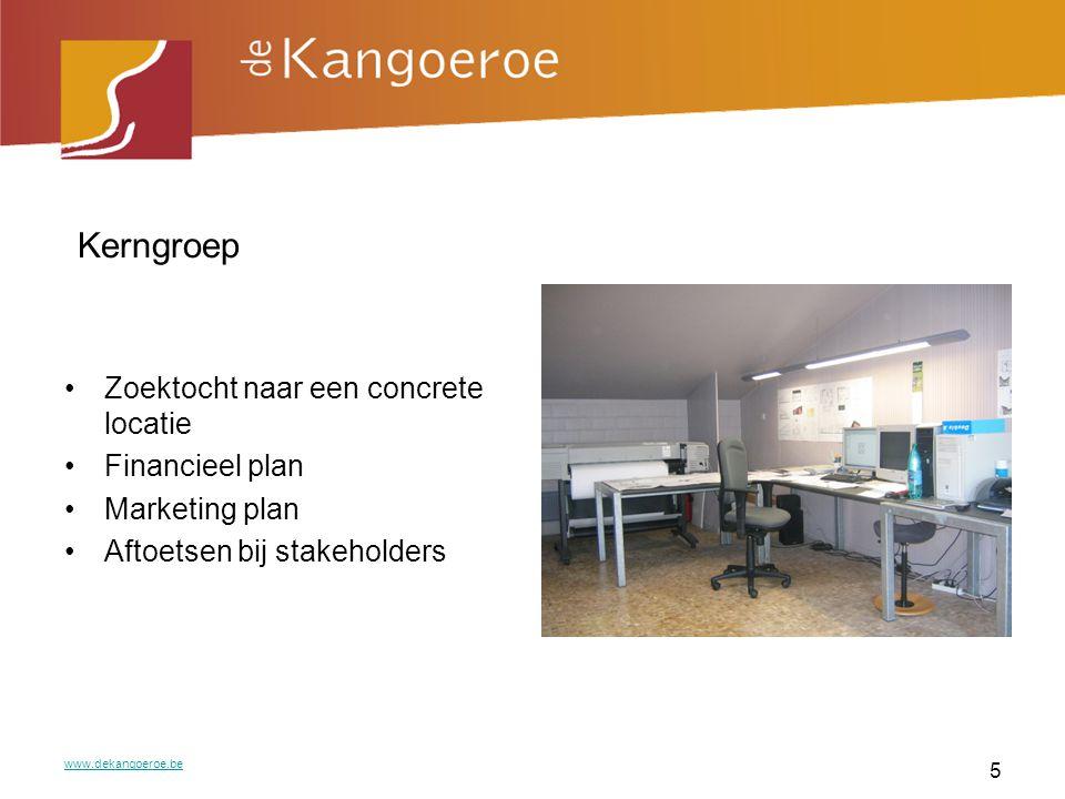 Informatieavond Ouders, cliënten, leveranciers, diensten, juristen, bedrijfsleiders,… Vragen van feedback op het project www.dekangoeroe.be 6