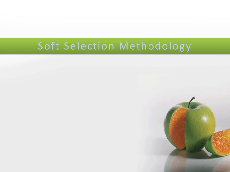 1 Soft Selection Methodology