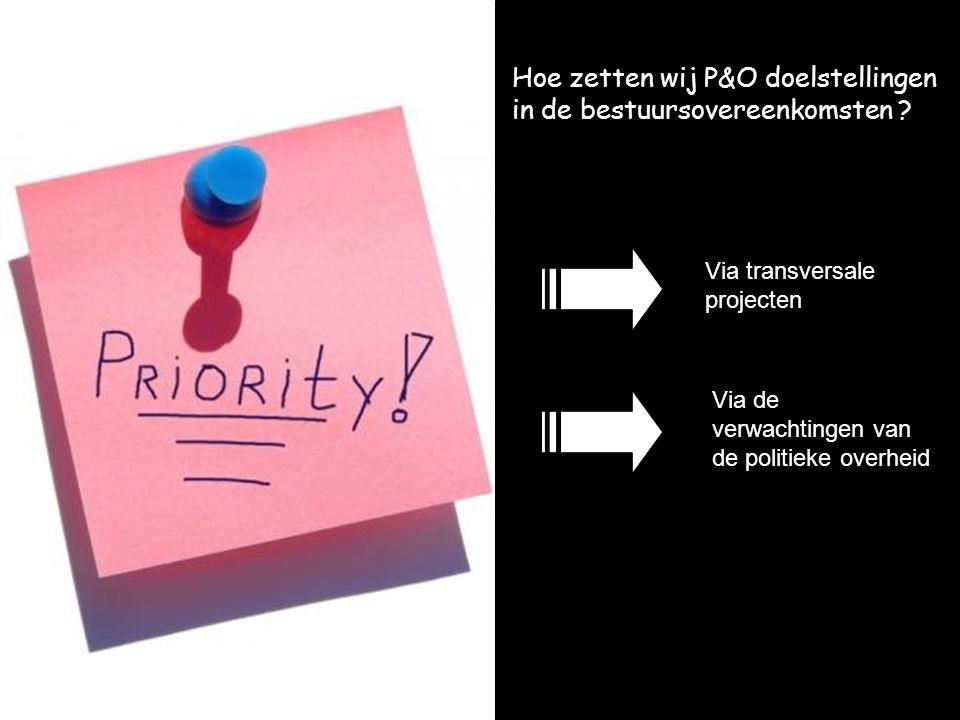 Hoe zetten wij P&O doelstellingen in de bestuursovereenkomsten .