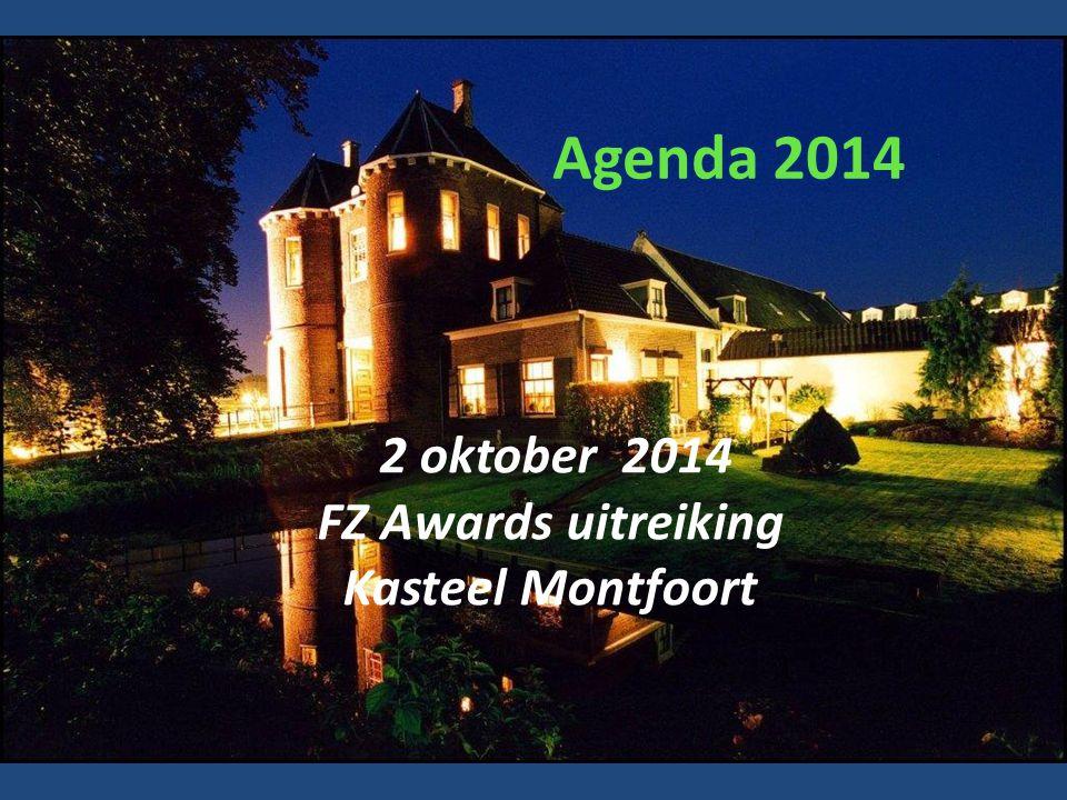 Agenda 2014 2 oktober 2014 FZ Awards uitreiking Kasteel Montfoort
