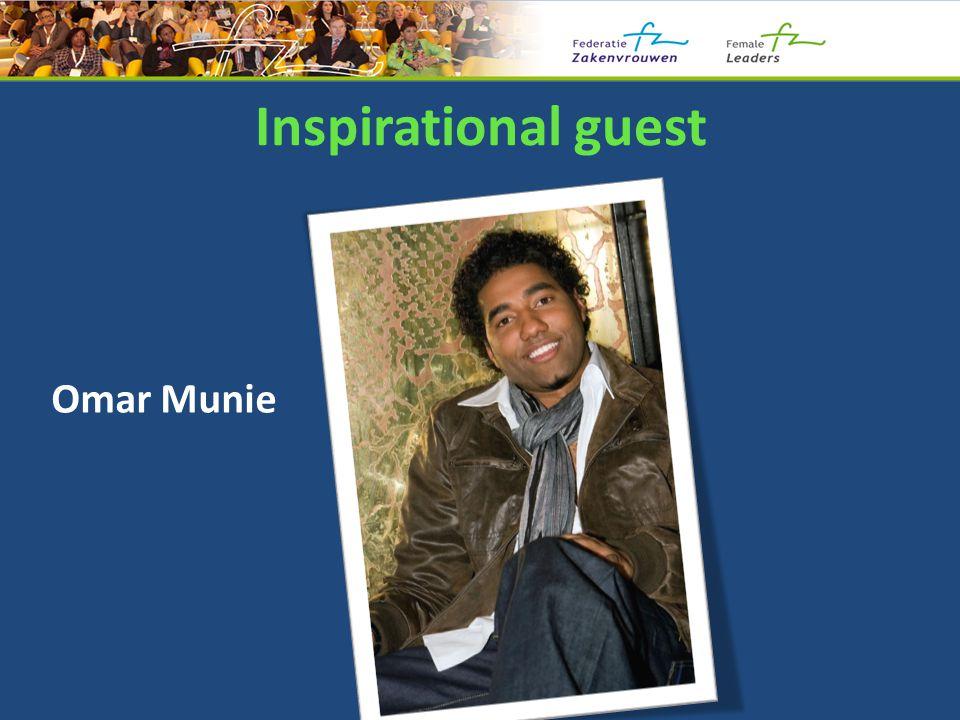Inspirational guest Omar Munie