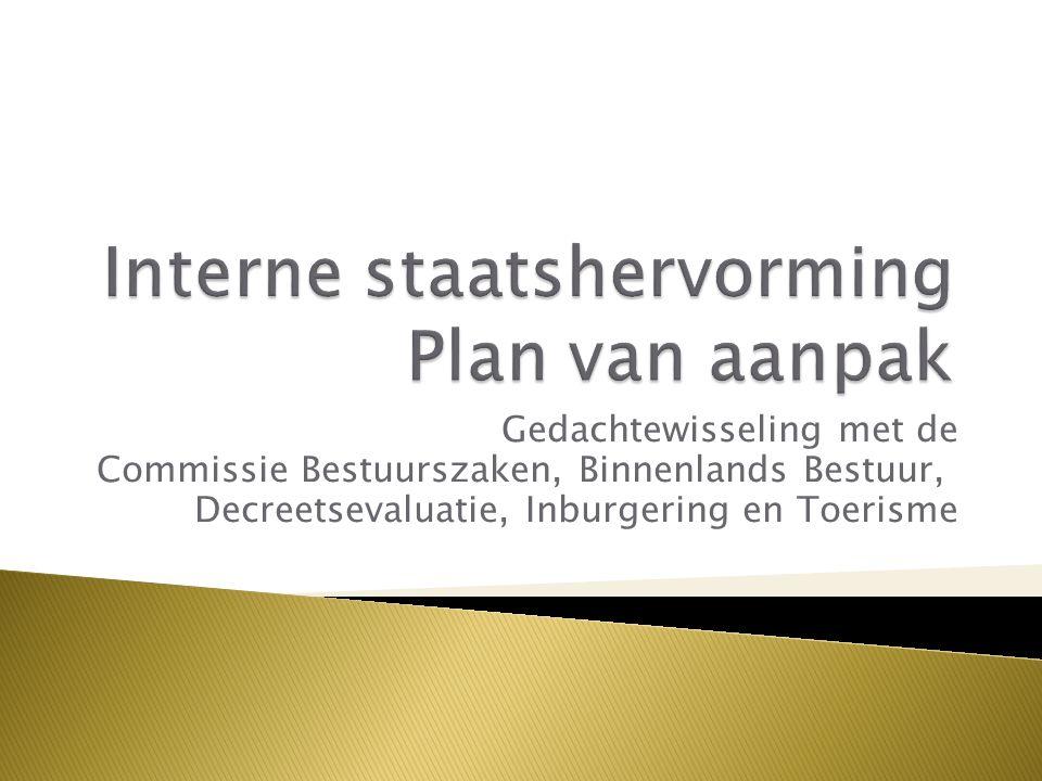 Gedachtewisseling met de Commissie Bestuurszaken, Binnenlands Bestuur, Decreetsevaluatie, Inburgering en Toerisme