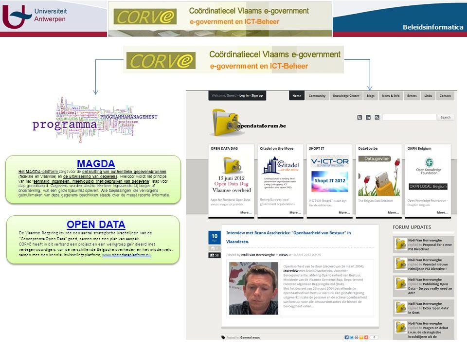 OPEN DATA De Vlaamse Regering keurde een aantal strategische krachtlijnen van de Conceptnota Open Data goed, samen met een plan van aanpak.