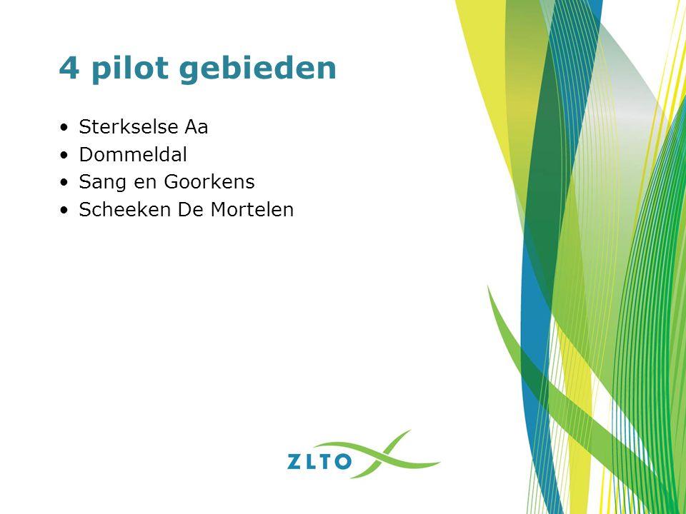 4 pilot gebieden Sterkselse Aa Dommeldal Sang en Goorkens Scheeken De Mortelen