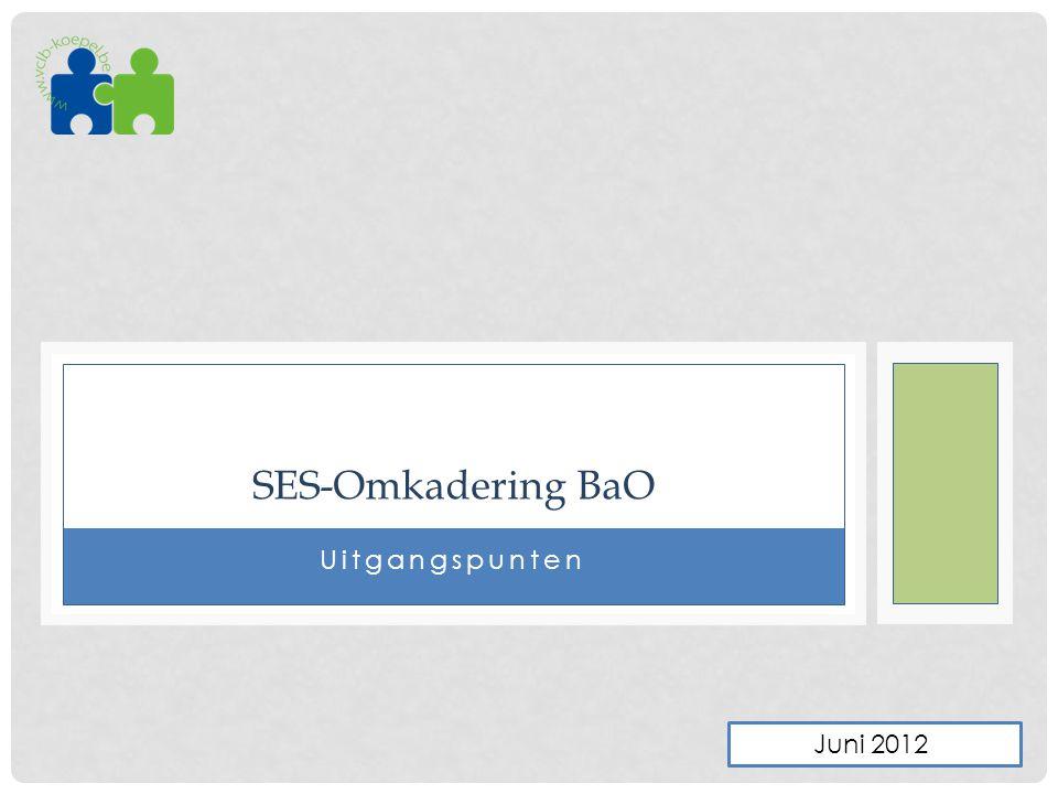 Uitgangspunten SES-Omkadering BaO Juni 2012