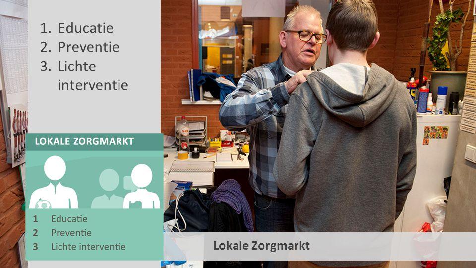 Lokale Zorgmarkt 1.Educatie 2.Preventie 3.Lichte interventie