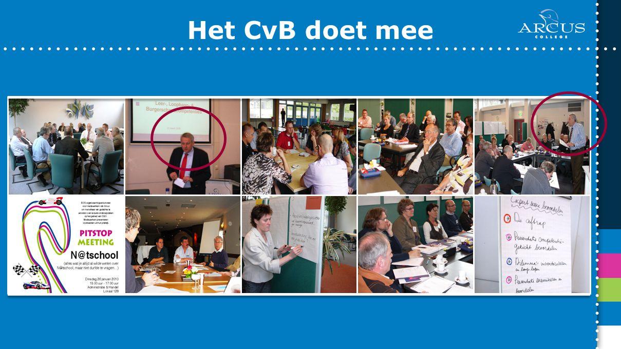 Het CvB doet mee