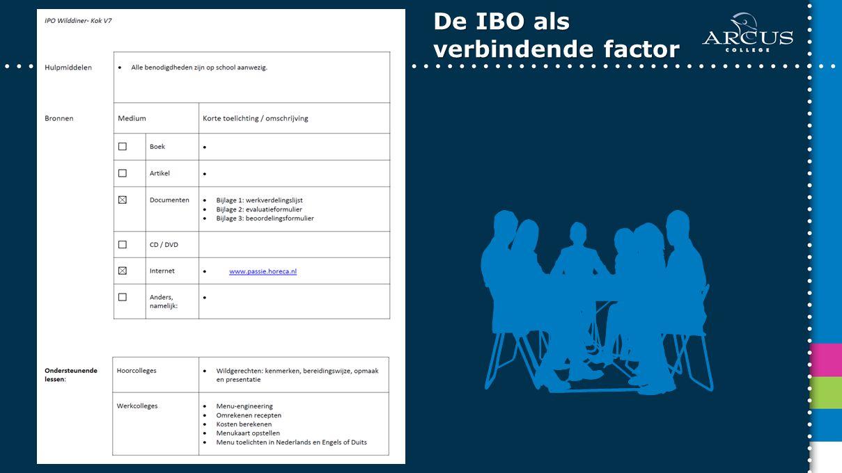 De IBO als verbindende factor