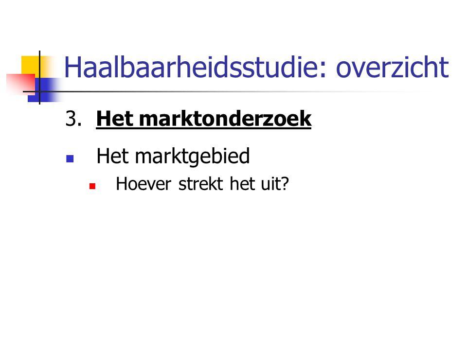 3. Het marktonderzoek Het marktgebied Hoever strekt het uit?