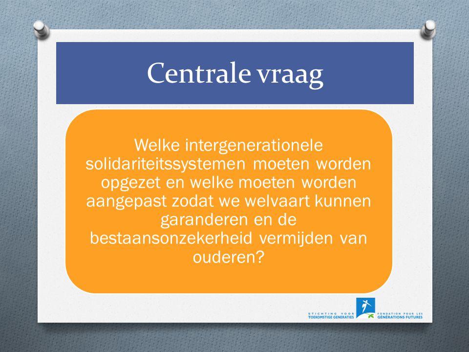 Welke intergenerationele solidariteitssystemen moeten worden opgezet en welke moeten worden aangepast zodat we welvaart kunnen garanderen en de bestaansonzekerheid vermijden van ouderen