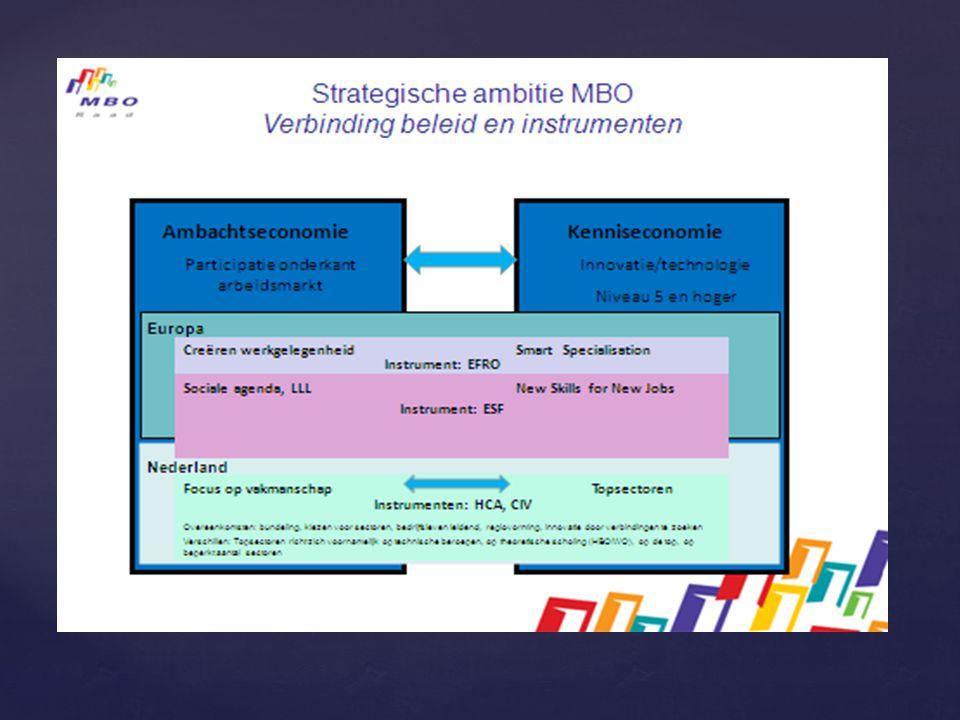 Structuur en organisatie  opdrachtgever: Brabantse MBO bestuurders  MBO Instellingen Brabant vormen samen de denktank  dagelijkse uitvoering: kerngroep uit leden denktank