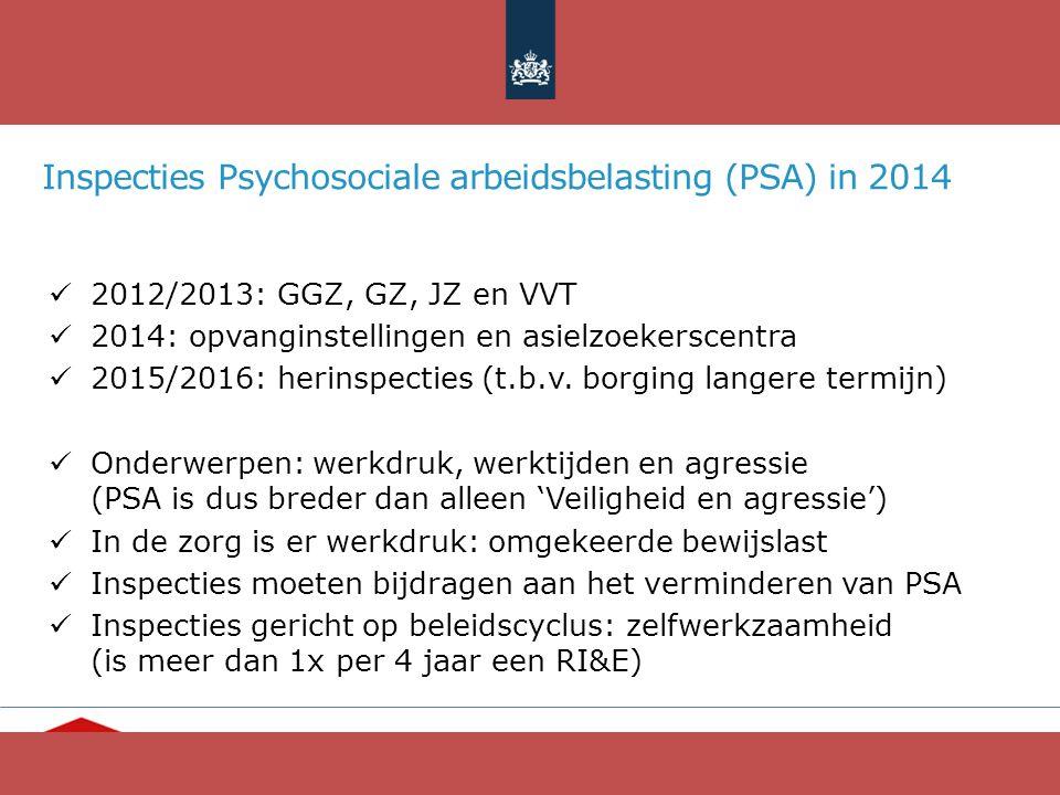 """Ieder mens telt"" www.opvang.nl Inspecties Psychosociale arbeidsbelasting (PSA) in 2014 2012/2013: GGZ, GZ, JZ en VVT 2014: opvanginstellingen en asie"
