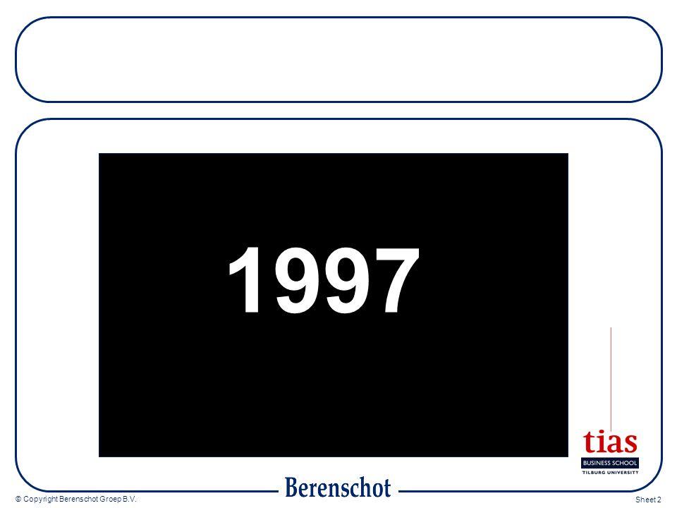 © Copyright Berenschot Groep B.V. Sheet 2 1997