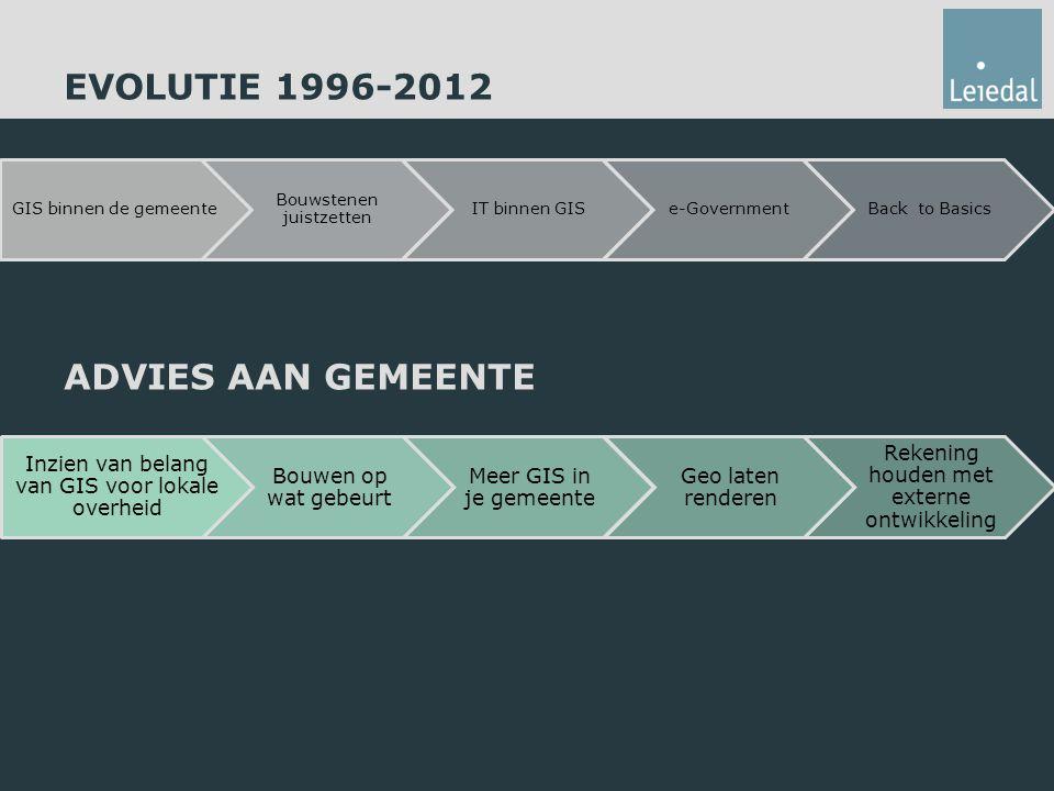 EVOLUTIE 1996-2012 ADVIES AAN GEMEENTE