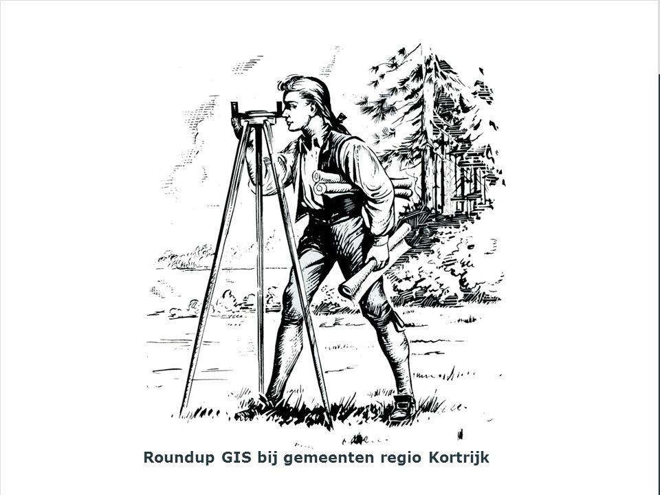Roundup GIS bij gemeenten regio Kortrijk
