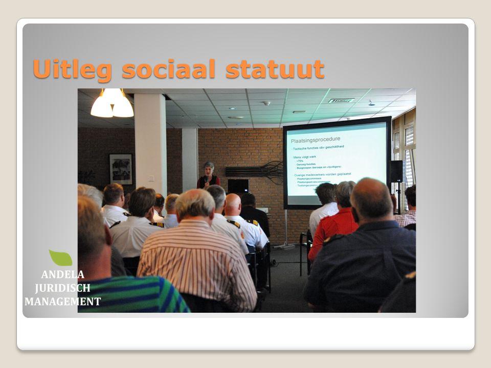 Uitleg sociaal statuut