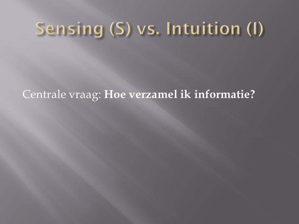 Centrale vraag: Hoe verzamel ik informatie?