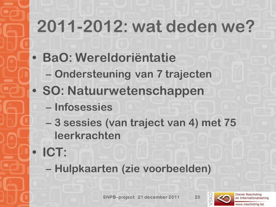 2011-2012: wat deden we.