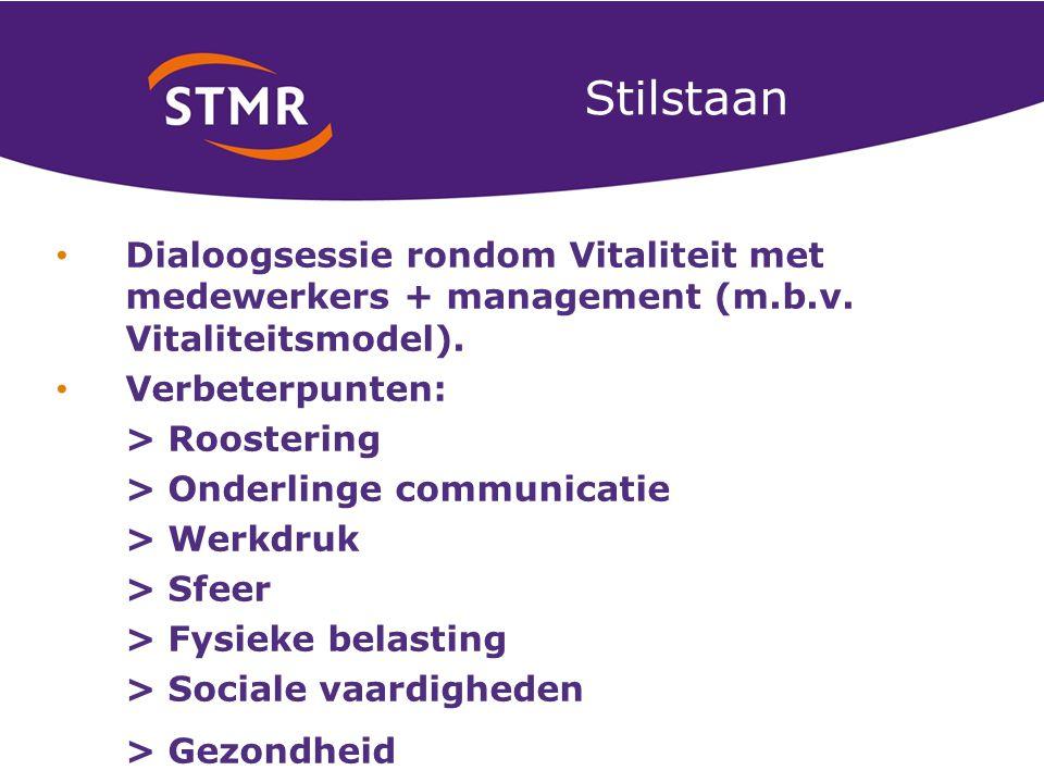 Stilstaan Dialoogsessie rondom Vitaliteit met medewerkers + management (m.b.v.