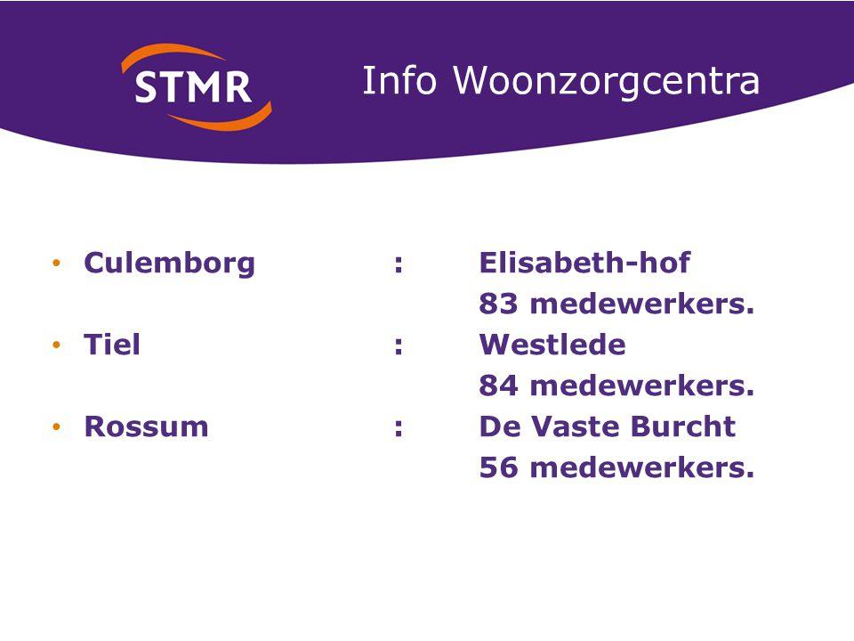 Info Woonzorgcentra Culemborg :Elisabeth-hof 83 medewerkers.