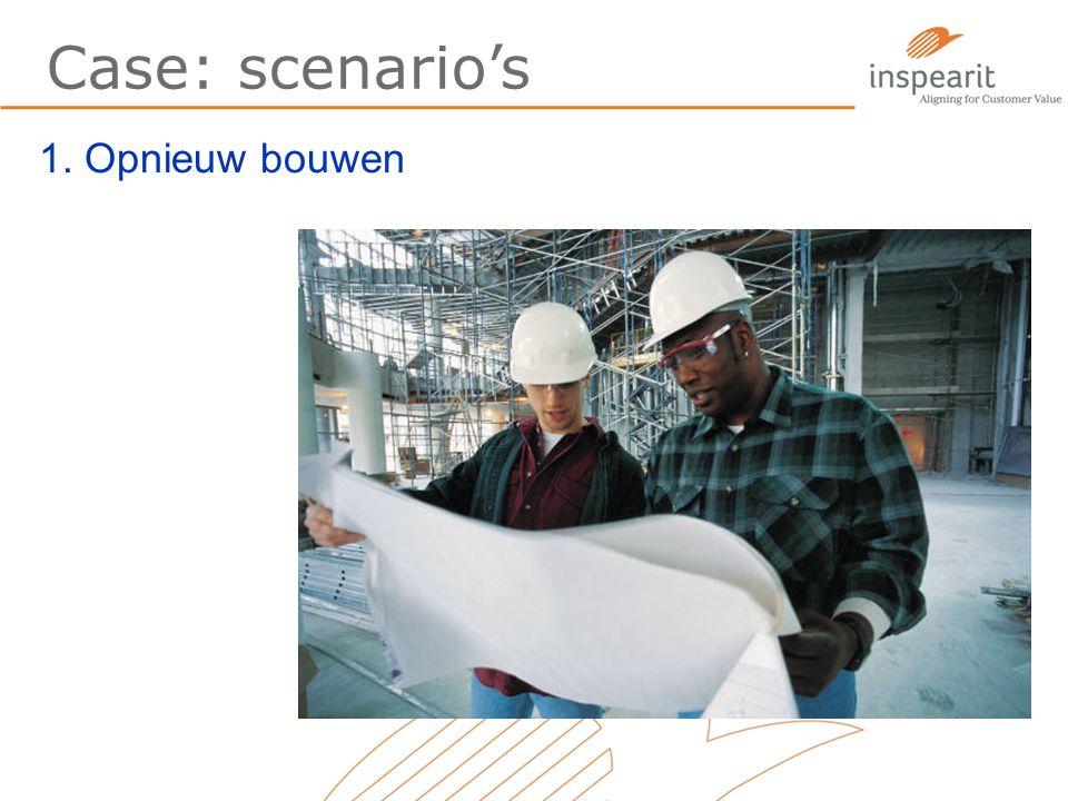 Case: scenario's 1. Opnieuw bouwen