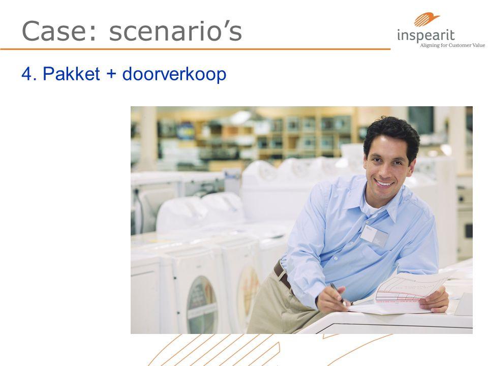 Case: scenario's 4. Pakket + doorverkoop