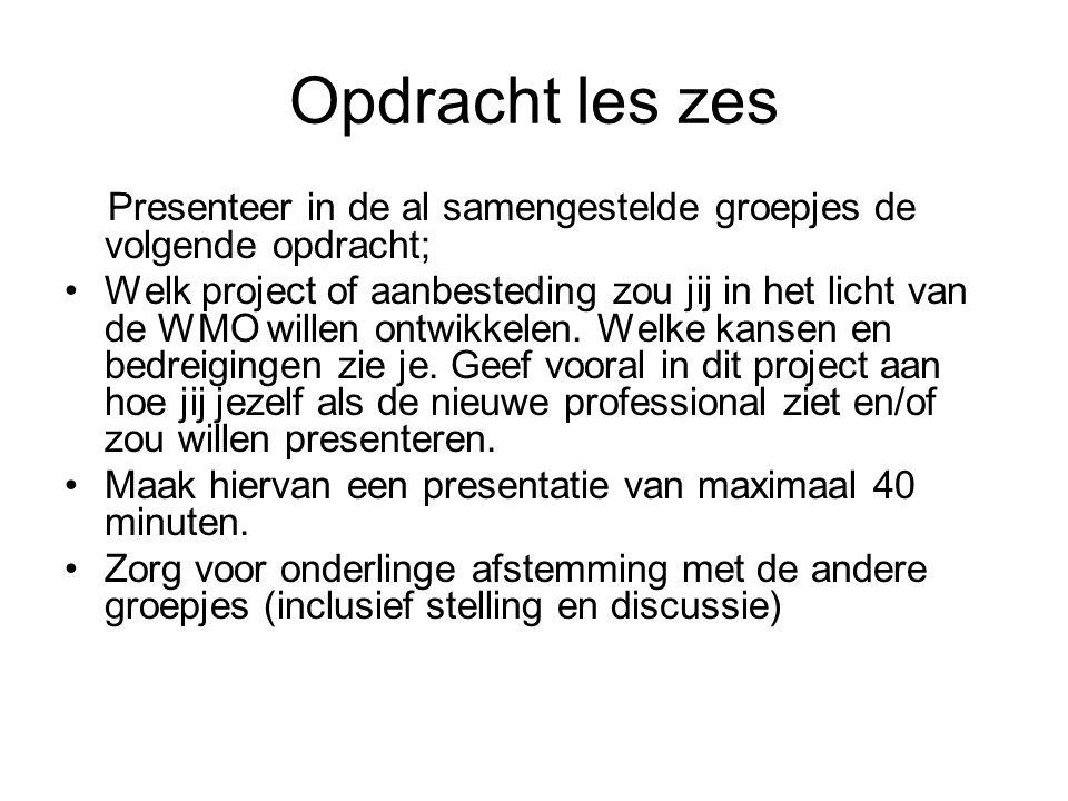 INHOUD PROGRAMMA De Rotterdamse WMO De toekomst van de professional Welzijn nieuwe stijl (wordt niet getoetst)