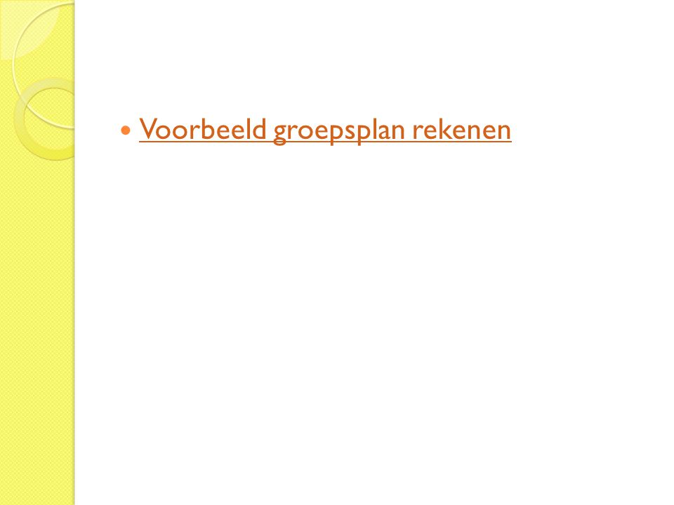 Voorbeeld groepsplan rekenen