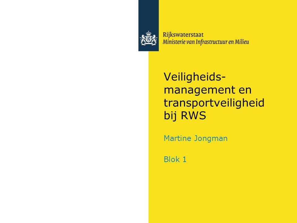 Veiligheids- management en transportveiligheid bij RWS Martine Jongman Blok 1