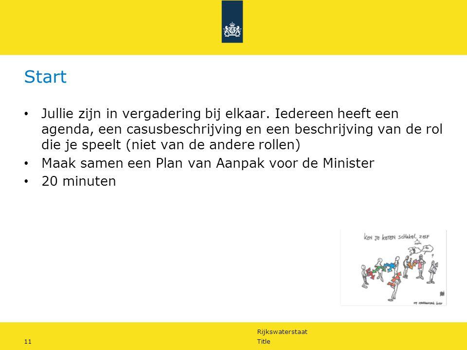 Rijkswaterstaat 11Title Start Jullie zijn in vergadering bij elkaar.