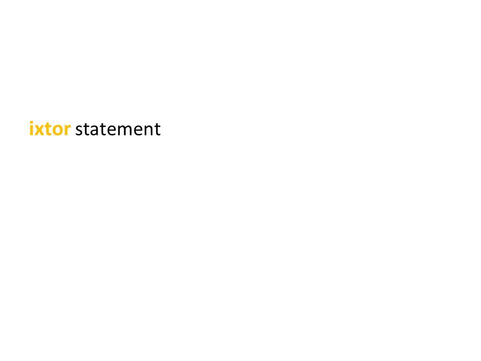 ixtor statement