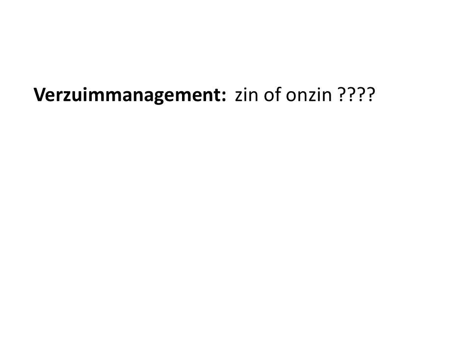 Verzuimmanagement: zin of onzin ????