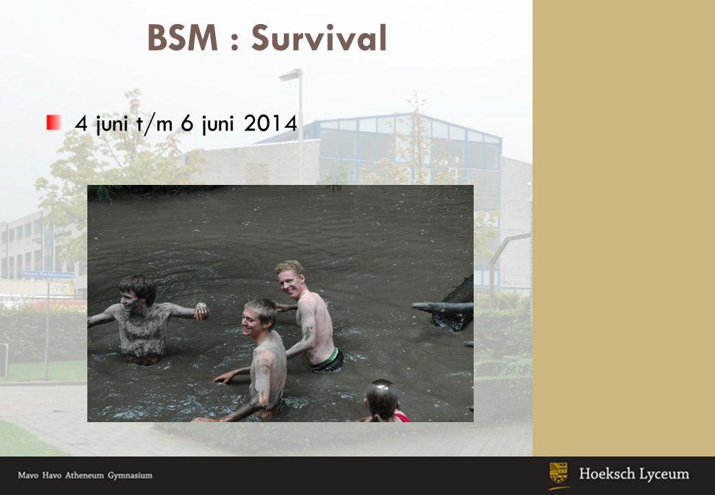 BSM : Survival 4 juni t/m 6 juni 2014