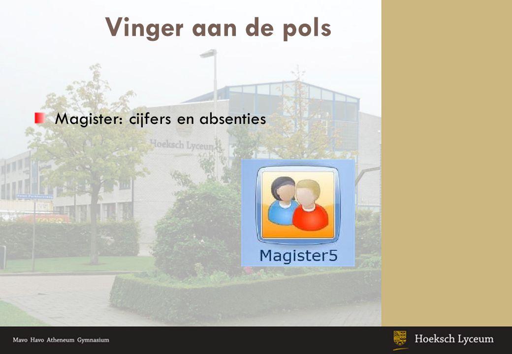 Vinger aan de pols Magister: cijfers en absenties