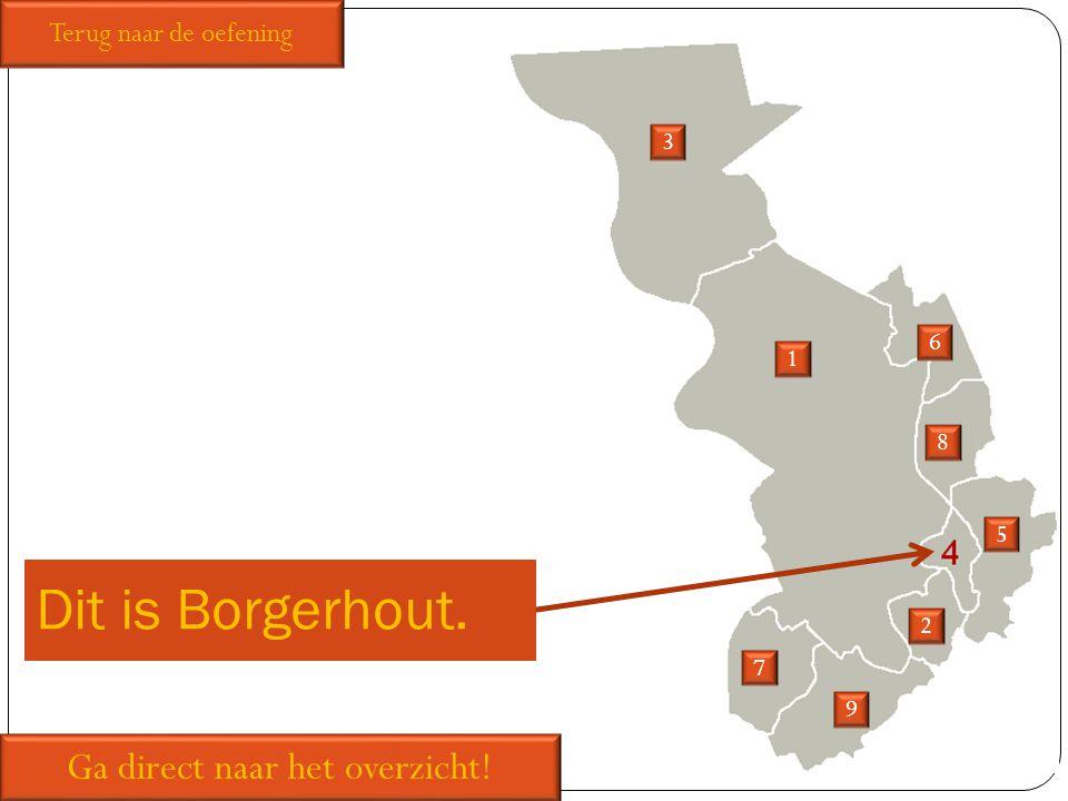 Dit is Borgerhout. 1 2 3 5 6 7 8 9 Ga direct naar het overzicht! Terug naar de oefening