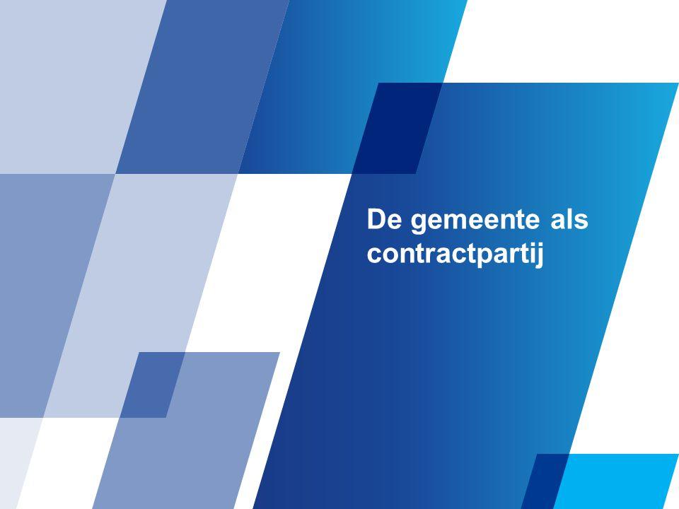 De gemeente als contractpartij