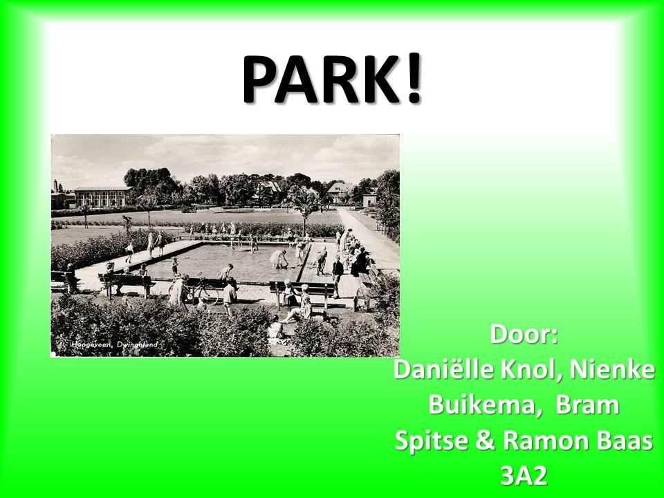 PARK! Door: Daniëlle Knol, Nienke Buikema, Bram Spitse & Ramon Baas 3A2
