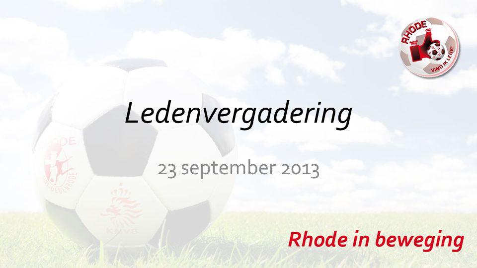 Ledenvergadering 23 september 2013