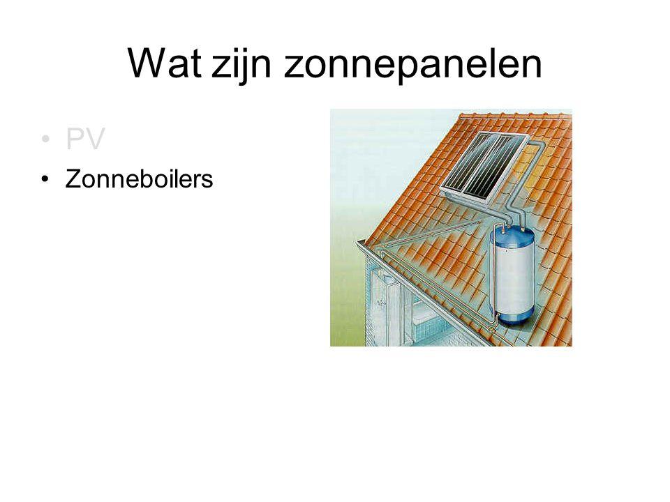Wat zijn zonnepanelen PV Zonneboilers