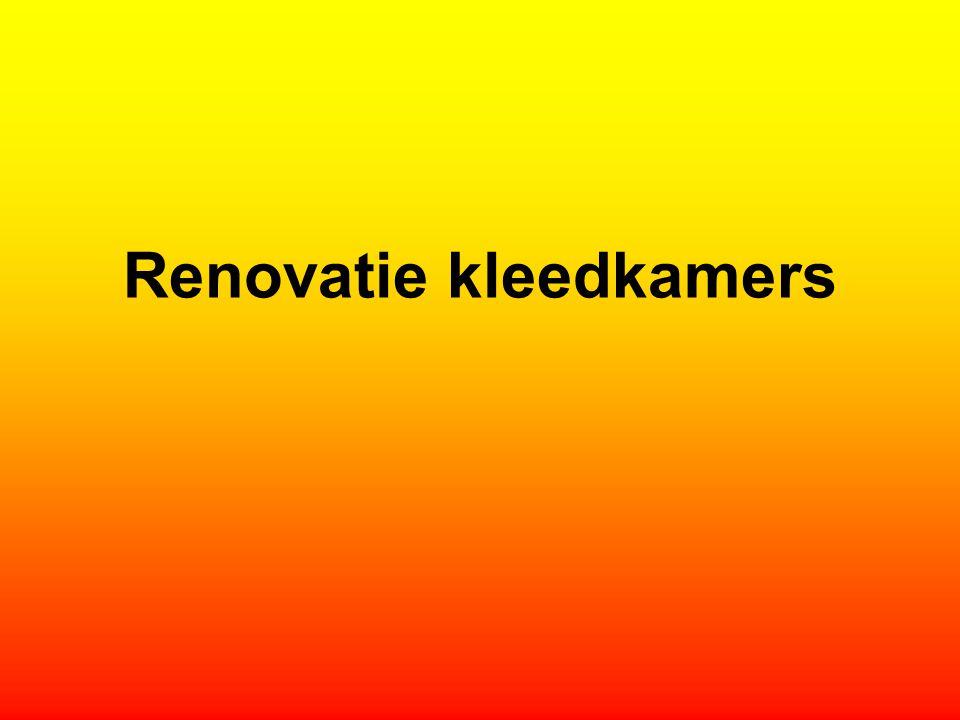Renovatie kleedkamers