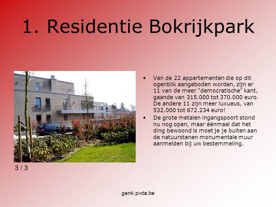 genk.pvda.be 2.Residentie Brethof Van deze residentie Brethof II zijn nog 2 appartementen niet verkocht.