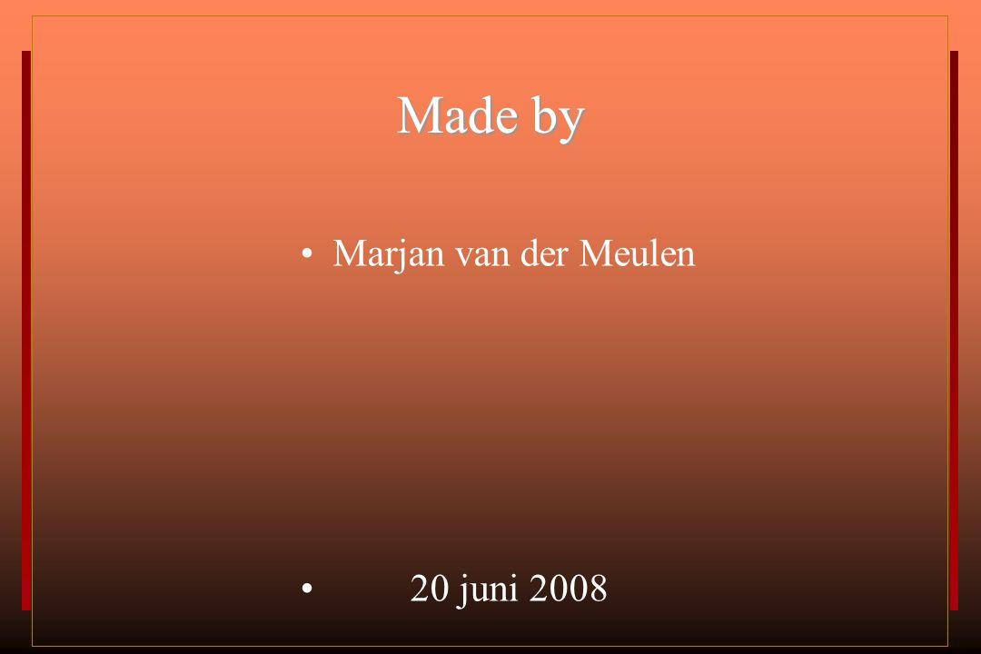 Made by Marjan van der Meulen 20 juni 2008