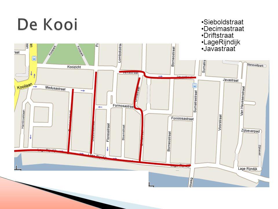 Sieboldstraat Decimastraat Driftstraat LageRijndijk Javastraat