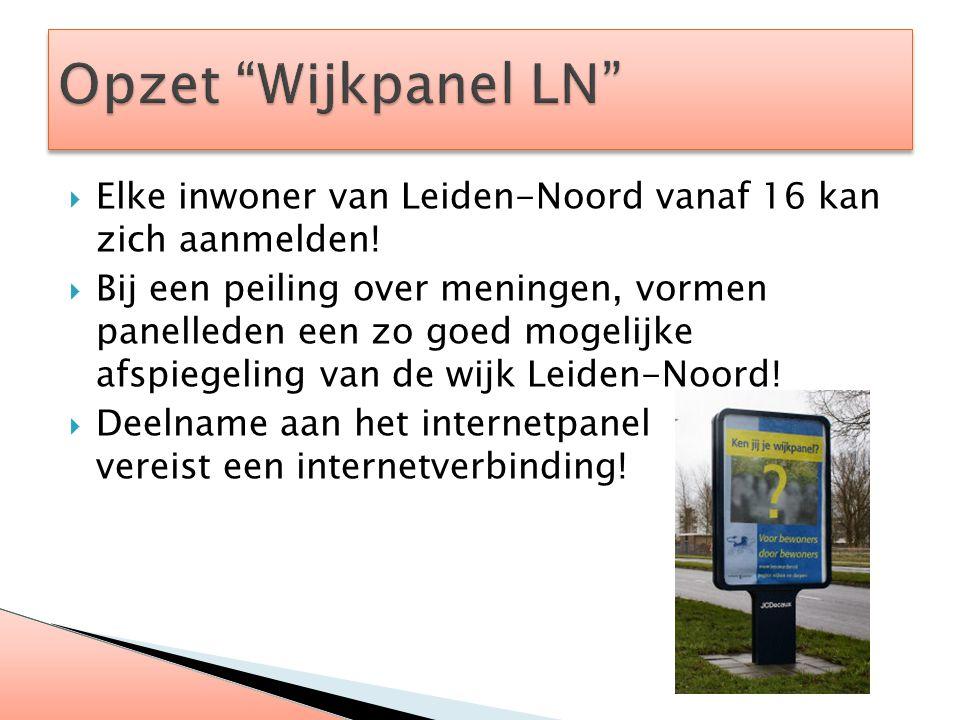  Elke inwoner van Leiden-Noord vanaf 16 kan zich aanmelden!  Bij een peiling over meningen, vormen panelleden een zo goed mogelijke afspiegeling van