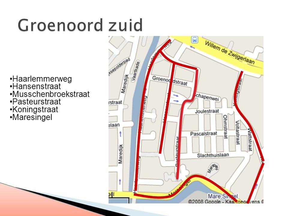 Haarlemmerweg Hansenstraat Musschenbroekstraat Pasteurstraat Koningstraat Maresingel